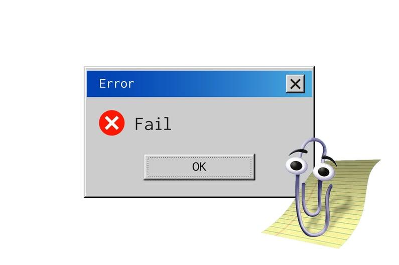 fail error as a concept of an unsuccessful website redesign