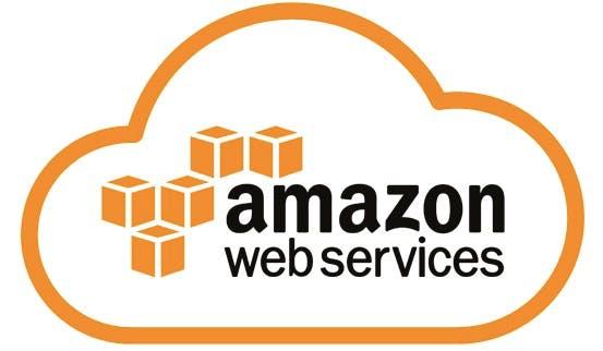 Amazon Web Services logo on white