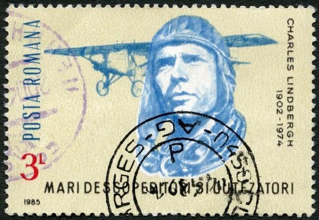 Charles Lindbergh stamp