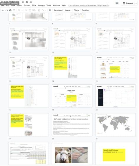 Google slides for storyboard