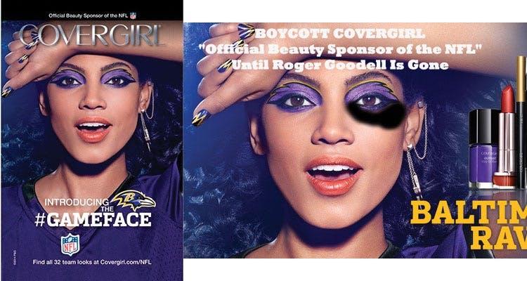 Cover girl official sponsor of the NFL
