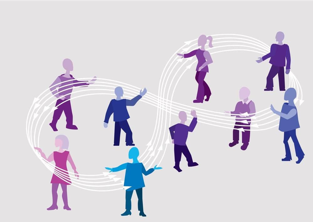 vectorial image of people dancing