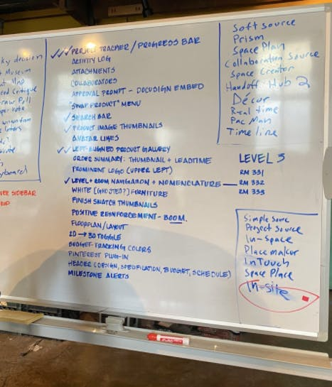 list of all features design sprint