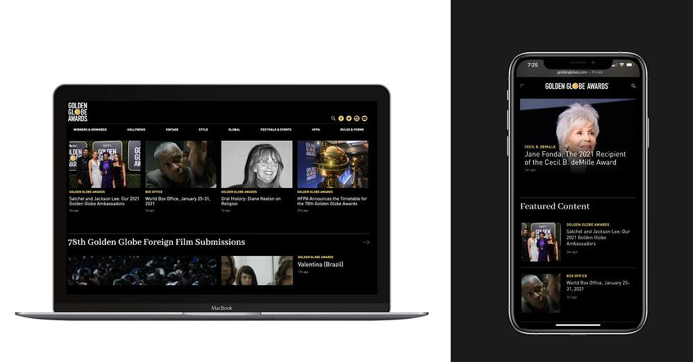 Rebuilding Golden Globes website to be scalable and fast