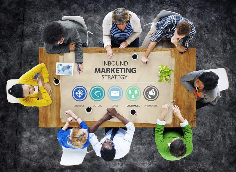 inbound marketing strategy advertisement commercial branding concept, digital marketing