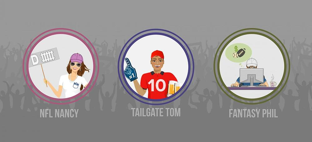 Graphics of NFL profiles