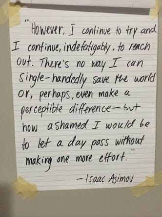 more effort quote by Isaac Asimov