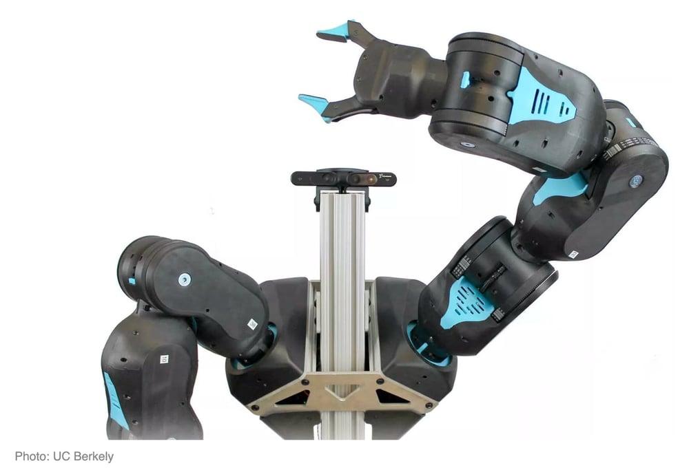 robotic arm on white