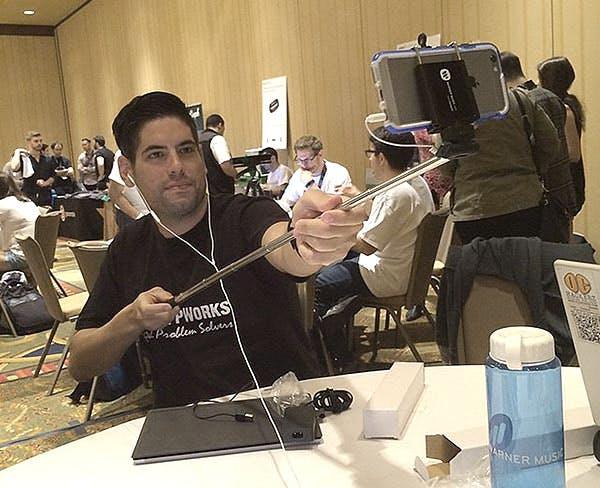 SF AppWorks' founder at a hackathon