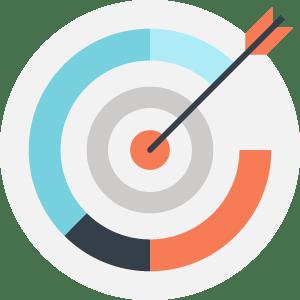target vectorial image as a concept os website as a sales person