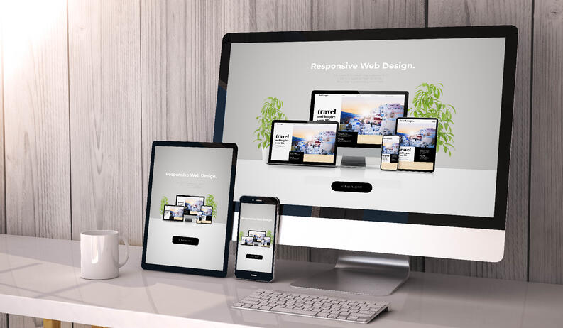mockups as a concept of website redesign project plan