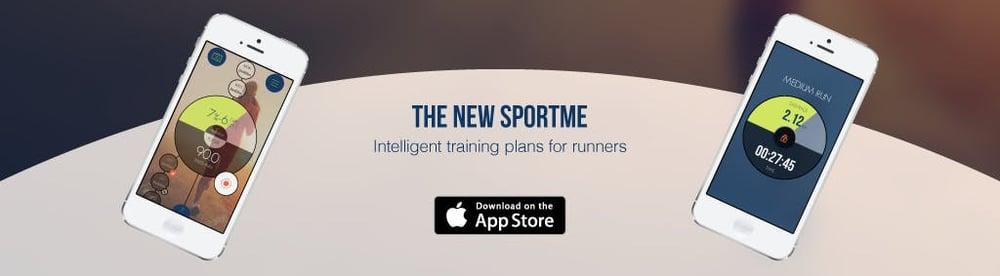 SportMe app banner, new app design