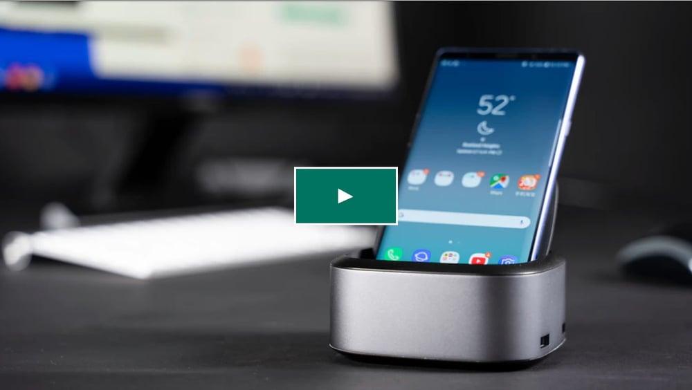 smartphone on a desk