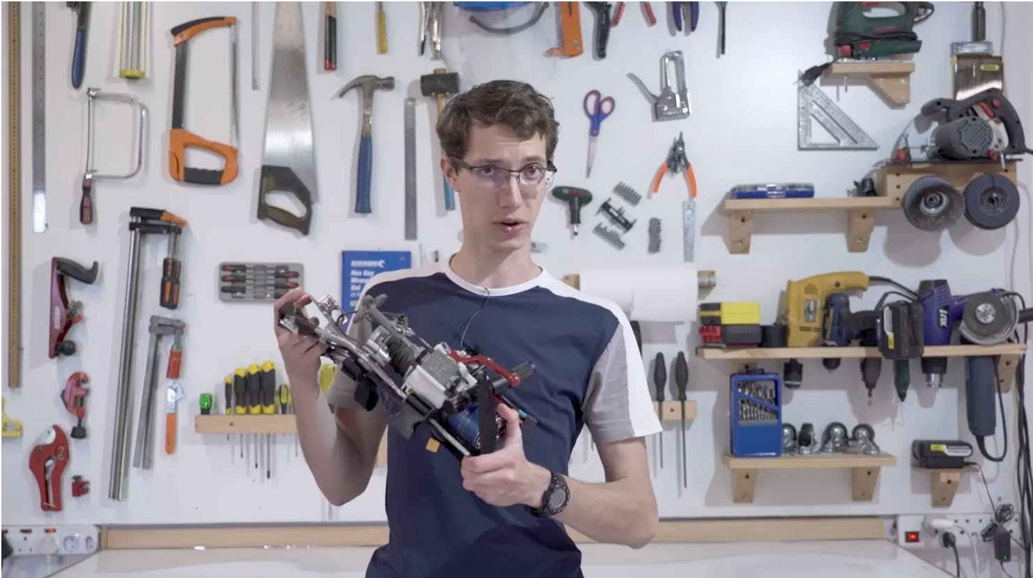 a Youtuber named JT has prototyped a fully functional grappling gun